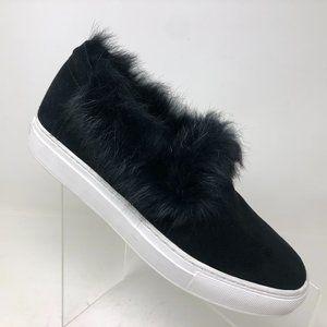 Rachel Zoe Burke Fur Sneaker Womens Size 8.5 M